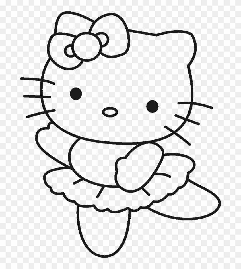 Hello kitty cool and cute coloring page hello kitty drawing 1099482