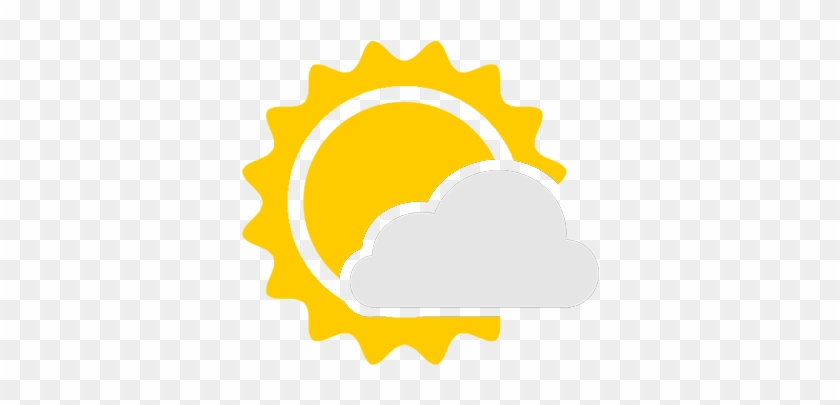 Mostly Cloudy Weather Icon - Partly Cloudy Icon Png #1100156