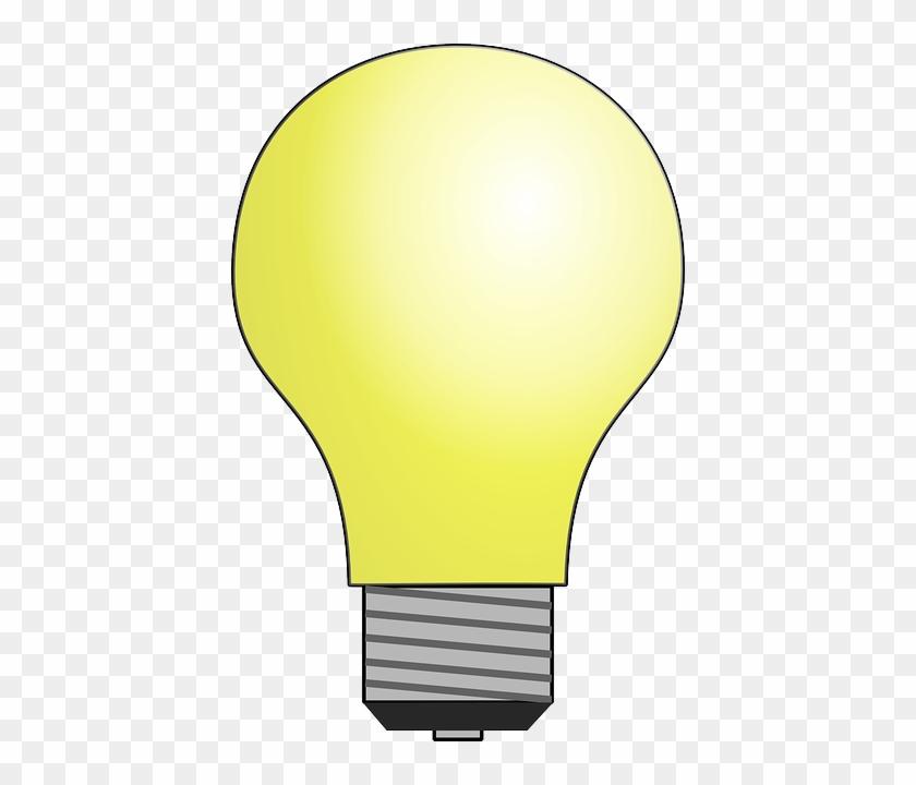 Cartoon, Light, Electric, Electronics, Bulb, Idea - Light Bulb Moving Animation #1100308