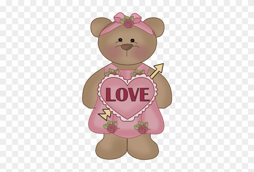 Valentine Love Teddy Bear Clip Art - Cartoon #1100641