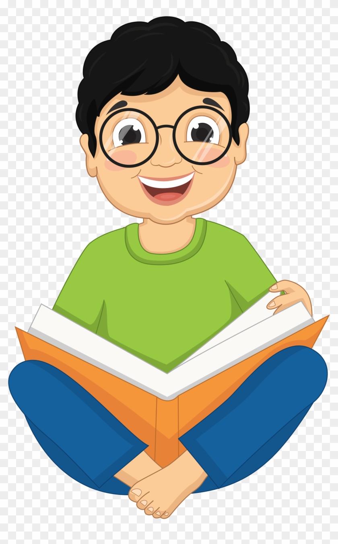 Cartoon Kids, Craft Images, Clip Art, Chart, Cartoons, - Reading Book Of Boy #1100652