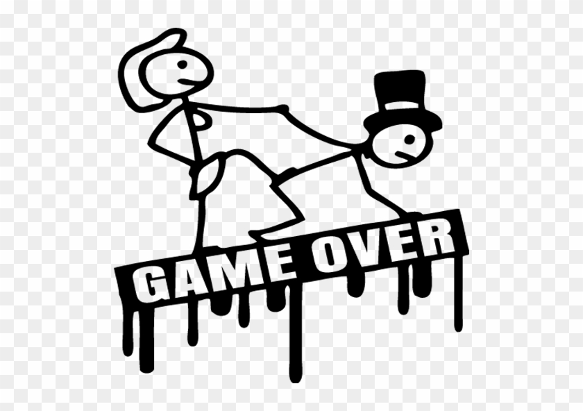 Game Over With Bride And Groom Bride And Groom Game Over Free Transparent Png Clipart Images Download