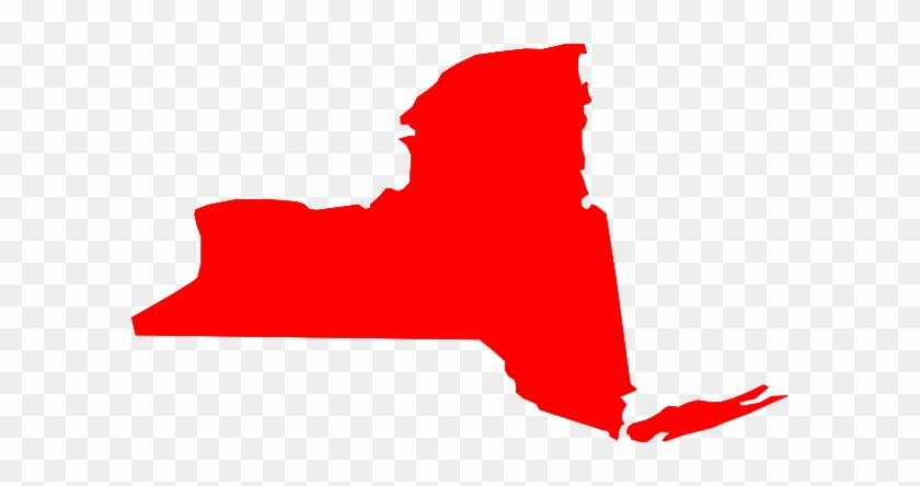 New York State Flag Clip Art - New York State Red #186104