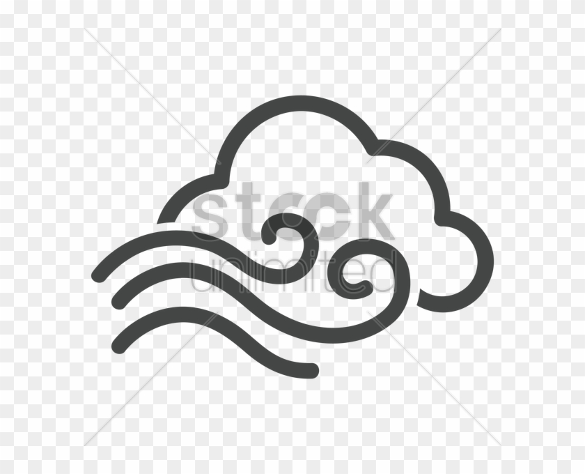 Wind And Cloud Vector Image