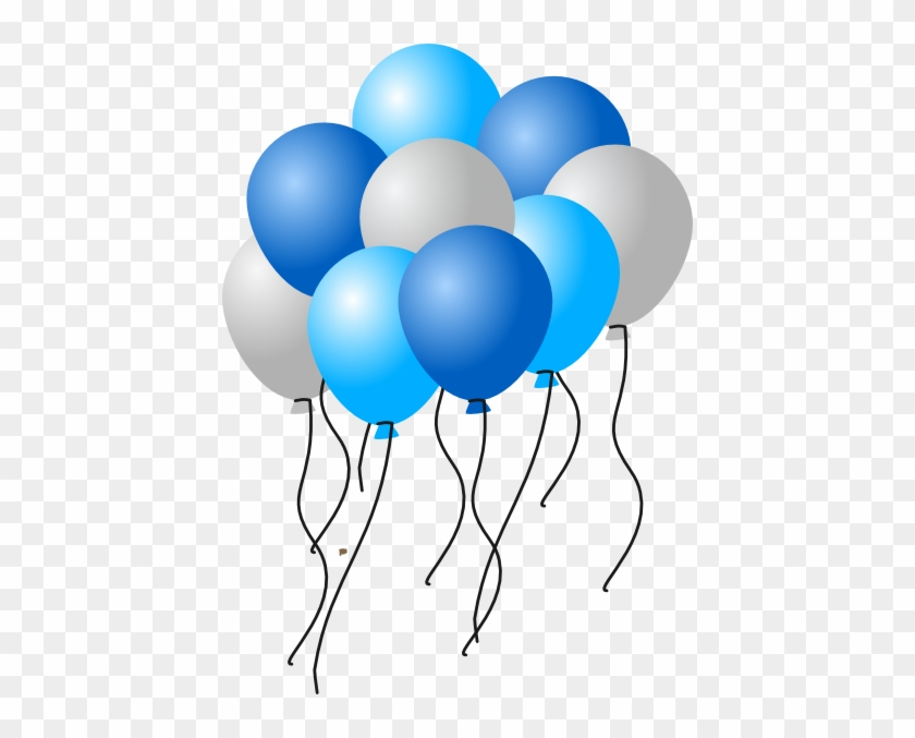 Balloons2 Clip Art Blue And White Balloons Clipart Free Transparent Png Clipart Images Download