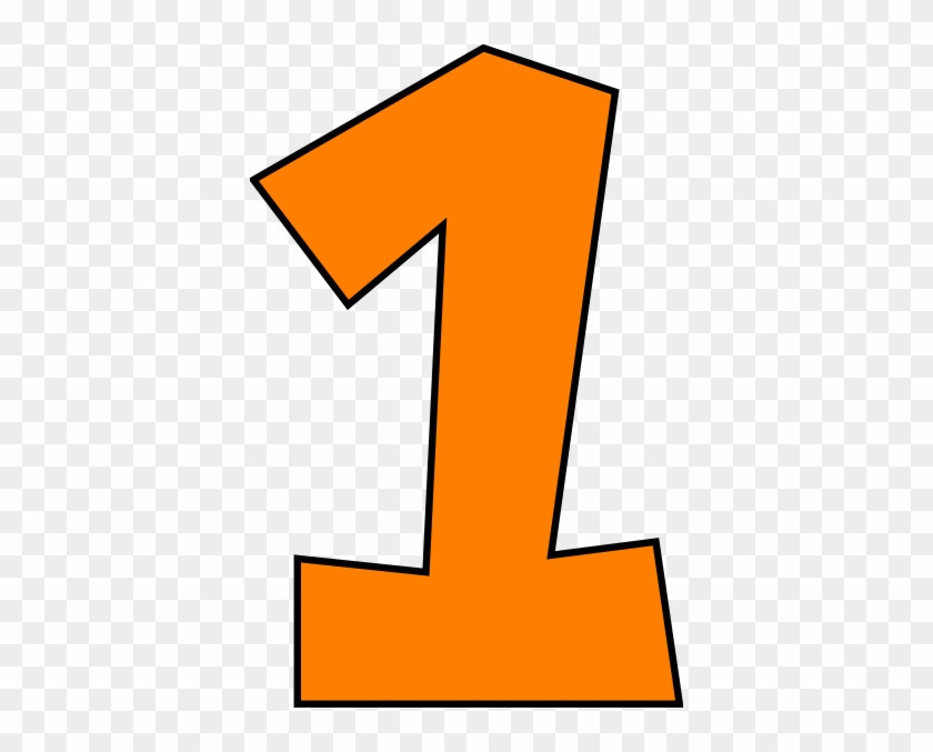 Graphic Of The Numeral One - Number 1 Clipart #186271