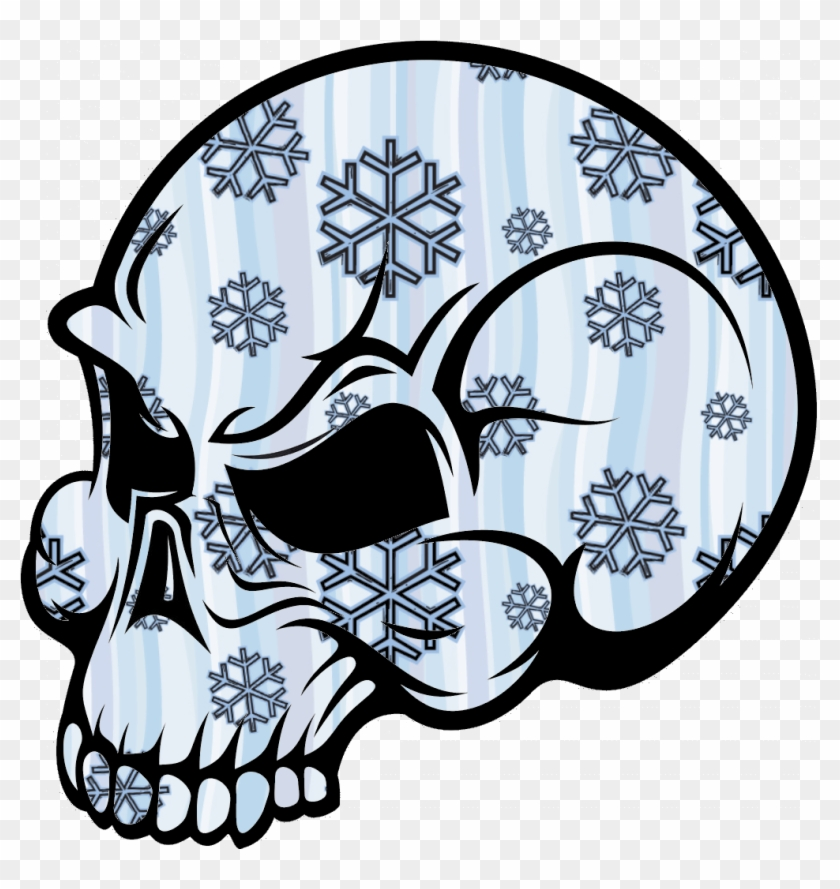 Skull Snow Image - Cool Skull Drawings Easy #186294