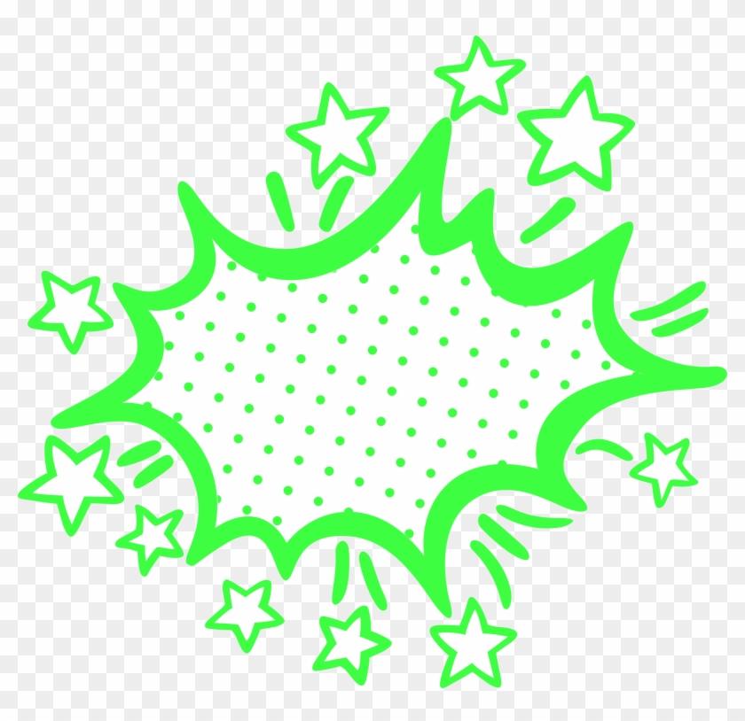 Lime Green Empty Comic Bubbles Rain Clipart Png Image - Bubbles Rain #186402