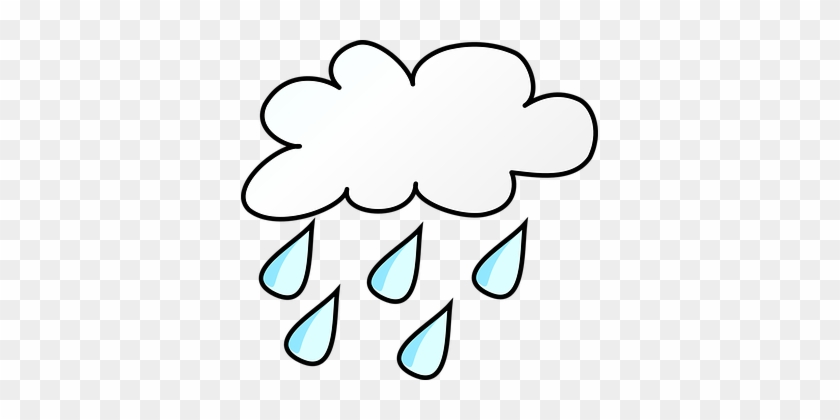 Weather Forecast Symbol Rainy Cloudy Rainy Weather Clip Art