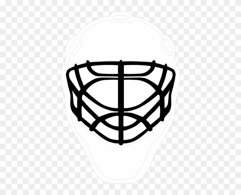 Black Goalie Mask Clip Art Drawings Of Hockey Goalie Free
