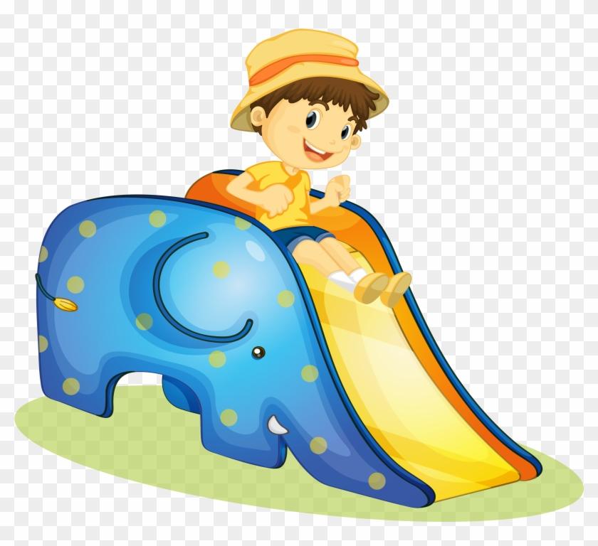 Cartoon Clip Art - Playground Slide #186598