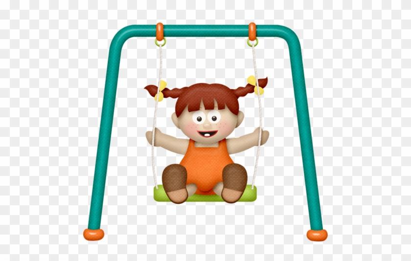 Lliella Playgroundgals Swinggirl1b - Playground Swing Clipart #186607
