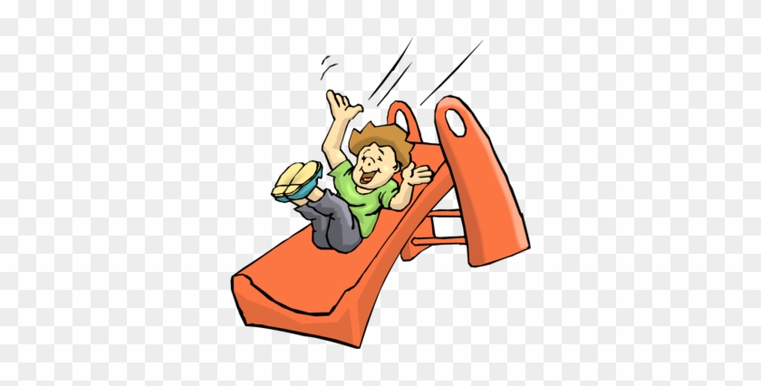Child On Slide Clip Art - Child On A Slide #186613