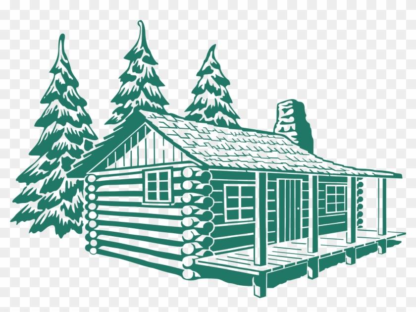 Big Image - Log Cabin Drawing #186720