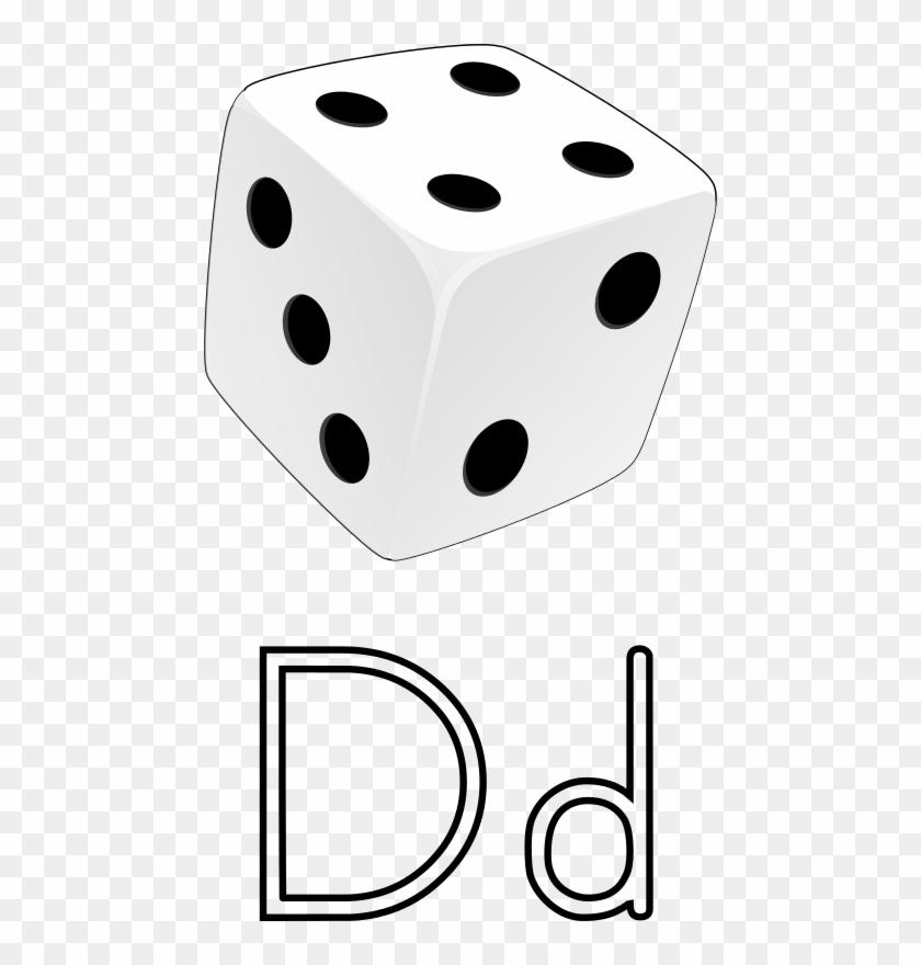 Free Dice 3d Free Letra D De Dado Free Dice - Dice #186843