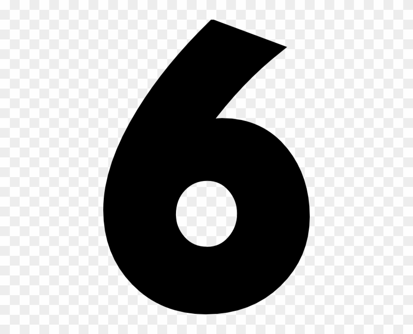 Number Six Black White PNG Clip Art Image   Gallery Yopriceville -  High-Quality Images and Transparent PNG Free Clipart