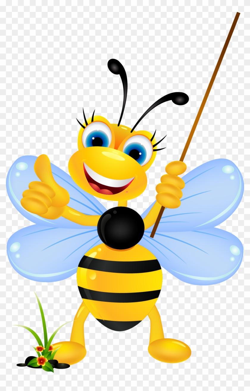 Bee Cartoon Stock Photography Clip Art - Beautiful Bees Cartoons #186933