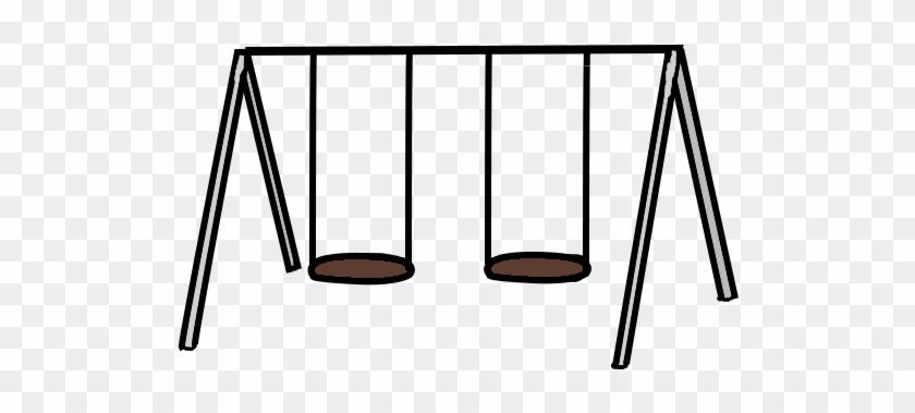 Swingset Clipart Black And White - Clip Art Swing Set #186962