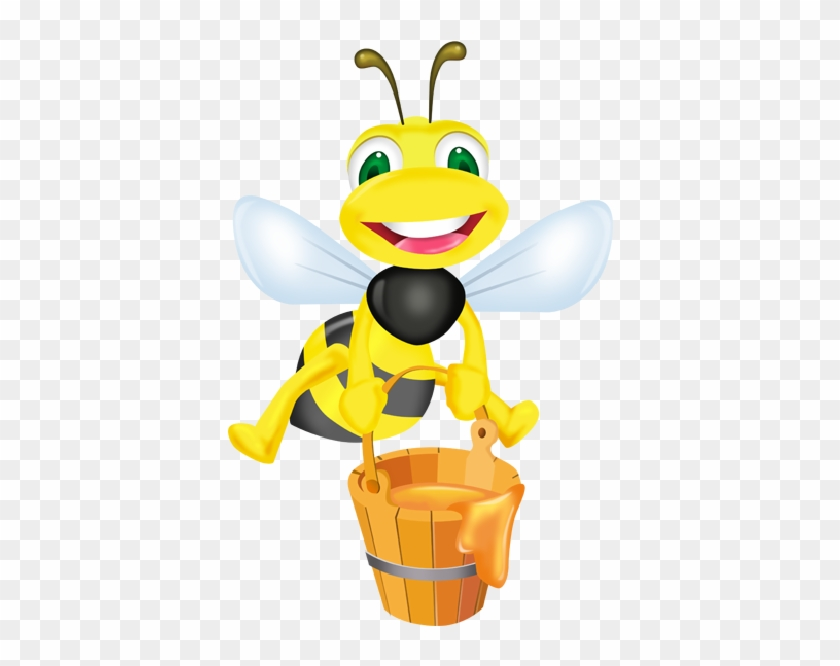 Cartoon Bees Clipart - Honey Bee Cartoon Png #186993