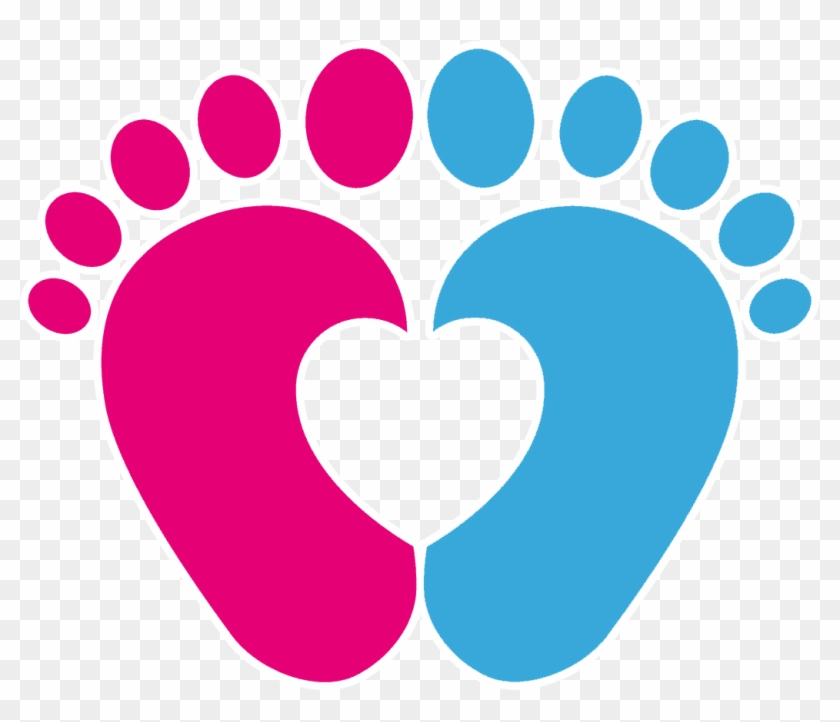Footprint Infant Clip Art - Baby Feet Heart Svg #187091
