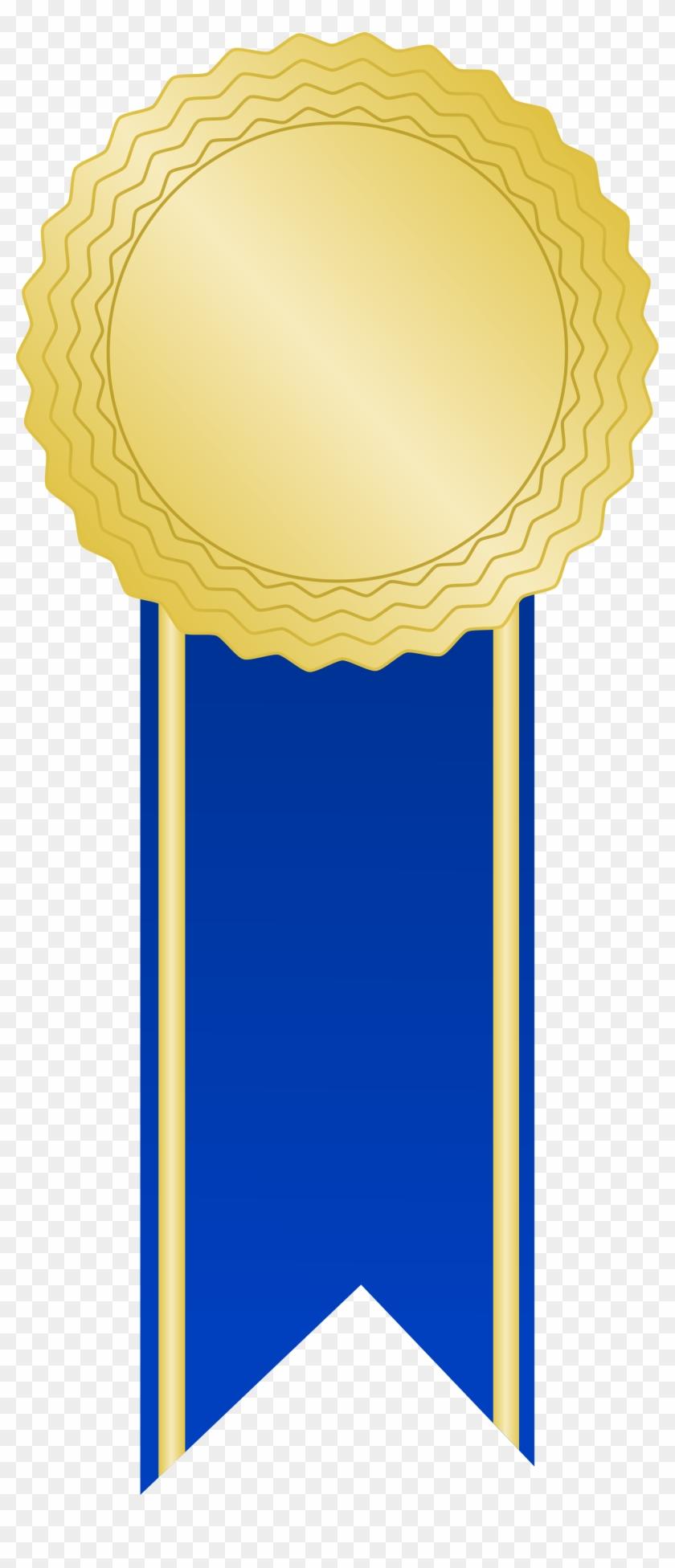Open - Blue Award Ribbon Png #187461