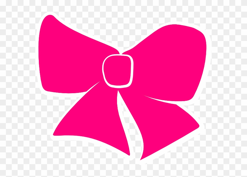 Pink Cheer Bow Clipart #187472