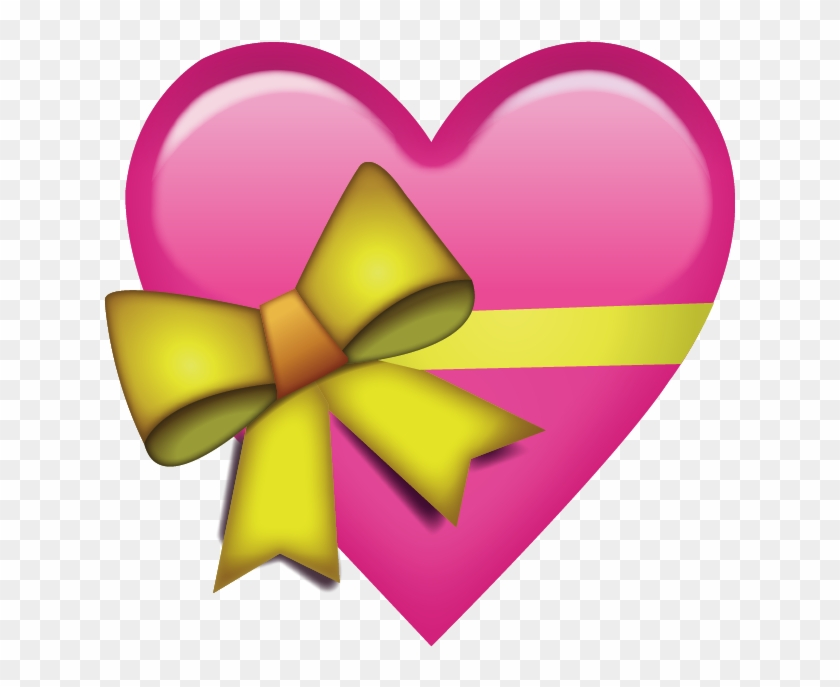 Download Pink Heart With Ribbon Emoji Png - Heart With Ribbon Emoji #187502