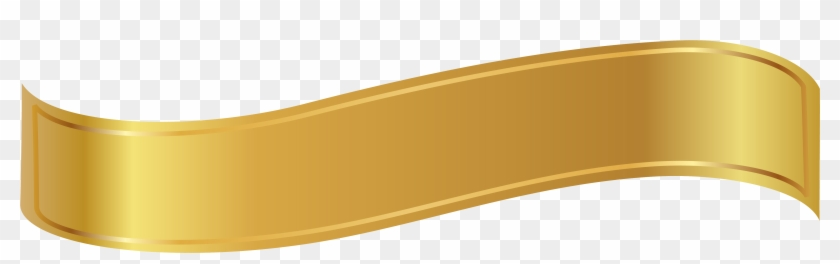Gold Ribbon Cliparts - Gold Banner Ribbon Png #187568
