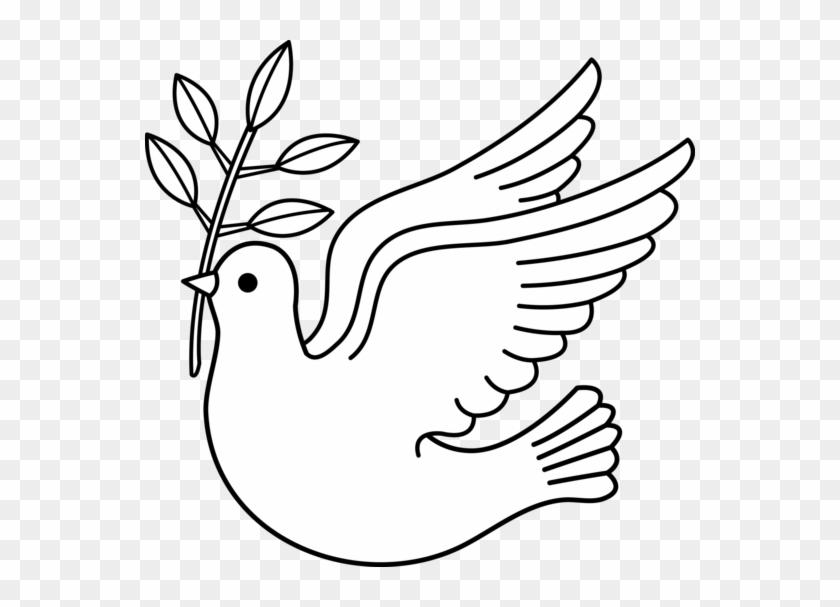 Christmas Dove Ribbon Clipart - Dove Black And White Clip Art #187578