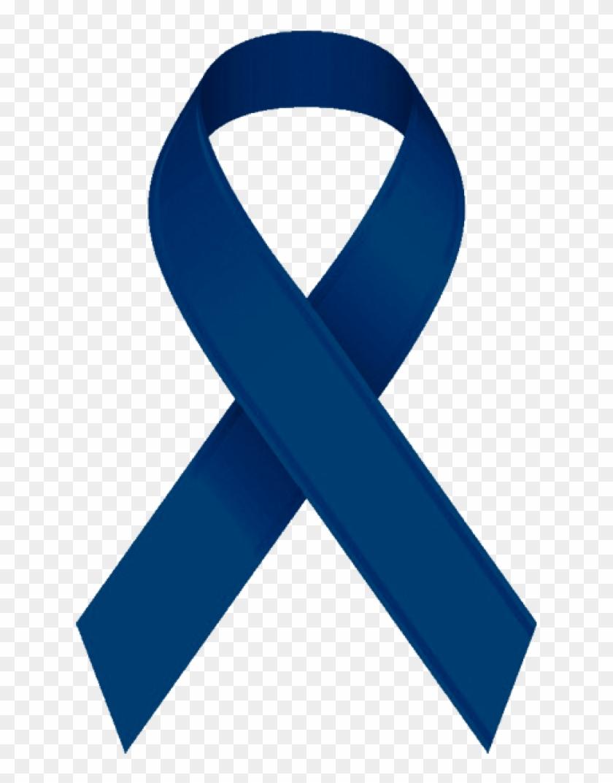 Blue Ribbon Navy Blue Cancer Ribbon Free Transparent Png