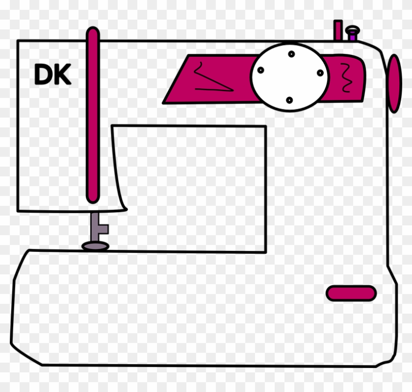 Free Images On Pixabay - Cartoon Sewing Machine Transparent #187891