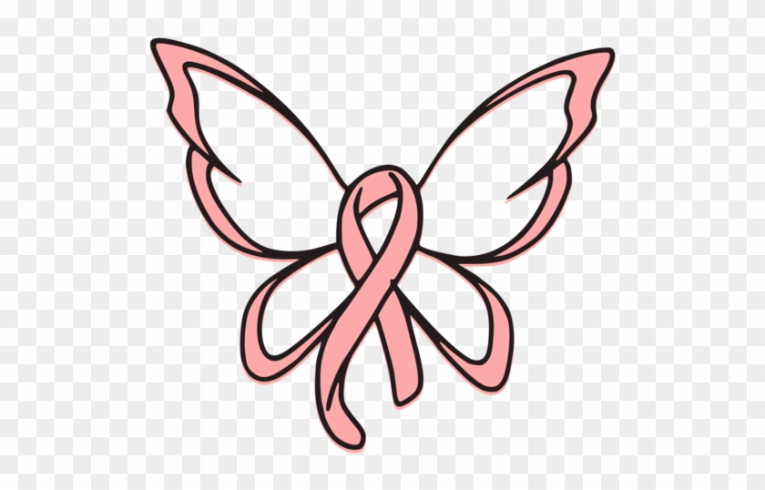 Breast Cancer Ribbon Butterfly Svg Cut File - Breast Cancer Ribbon Butterfly Tattoo #187975