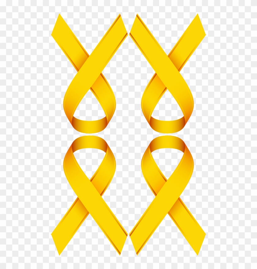 Gold Ribbon For Childhood Cancer Awareness Fabric Awareness