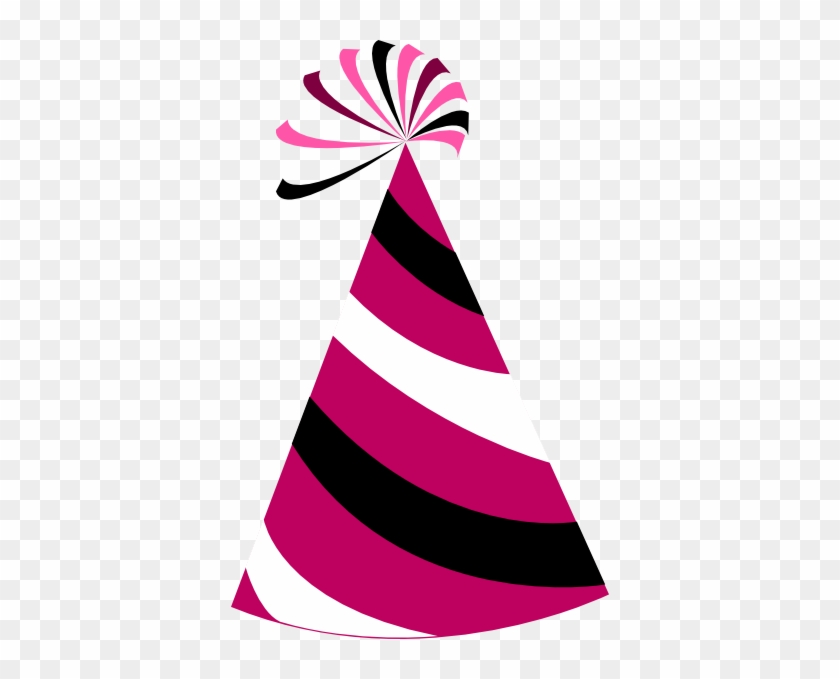 Pink Birthday Hat Clip Art Clipart Photo 2 Wikiclipart - Party Hat Vector Png #188784