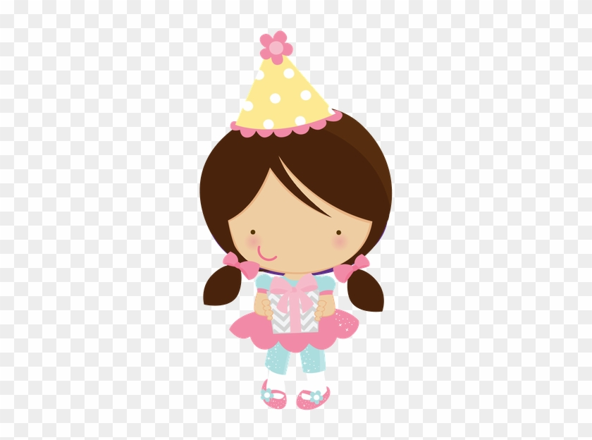 Cute Clipart - - Cute Girl Birthday Clipart #188793