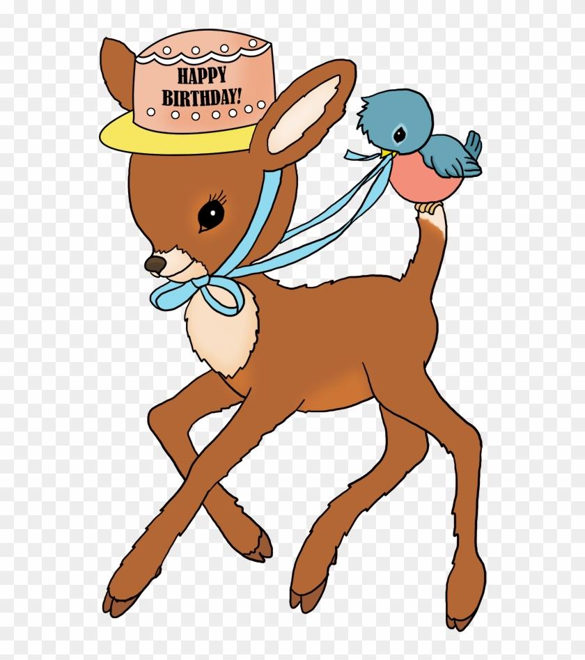 Happy Birthday Greeting With Flowers Bambi Birthday Bambi Free