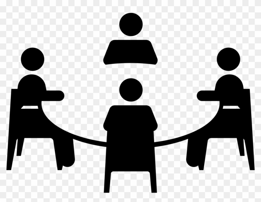 Group Work Clipart Black And White - Focus Group Discussion Icon #188975