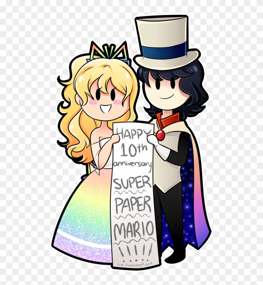 Happy 10th Anniversary Super Paper Mario By Pixelatedfairy - Super Paper Mario Tippi And Count Bleck #188984