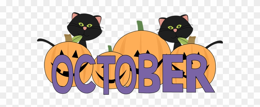 October Pumpkins And Black Cats Clip Art - October Clipart - Free  Transparent PNG Clipart Images Download