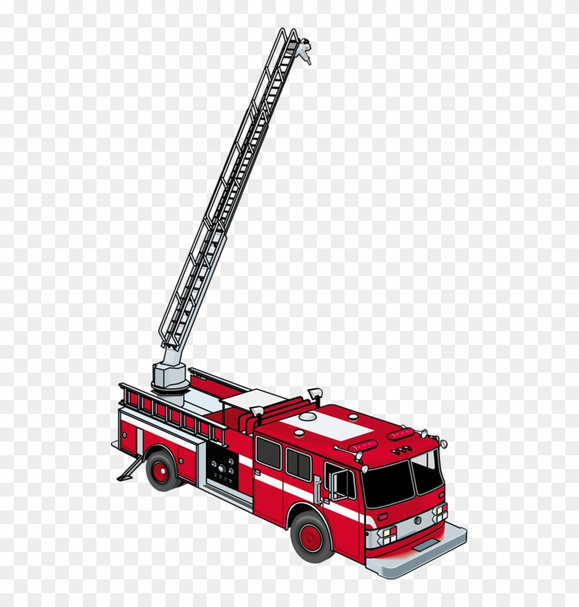 Ladder Fire Engine Firefighter Fire Department Clip - Ladder Fire Truck Clip Art #189417