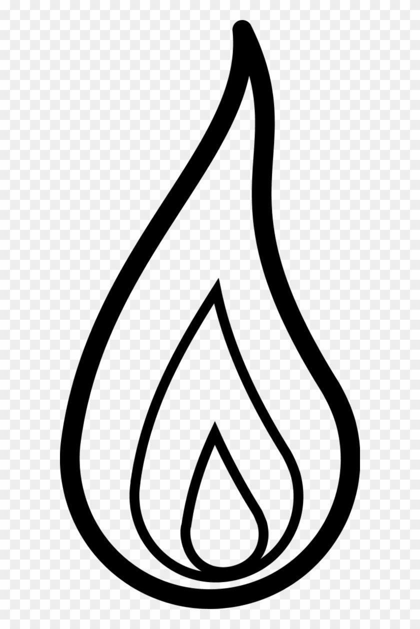 Flame Sketch - Flame Clipart Black And White #189438