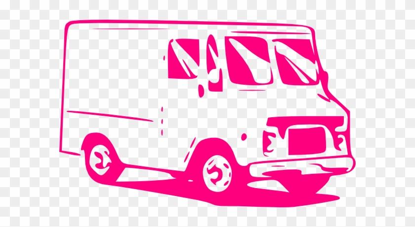 Pink Truck Clip Art - Food Truck Clip Art #189458