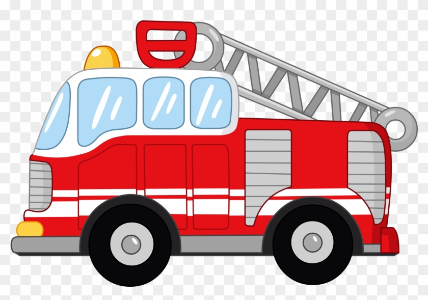 Cartoon Fire Engine Clip Art - Fire Truck Vector #189682