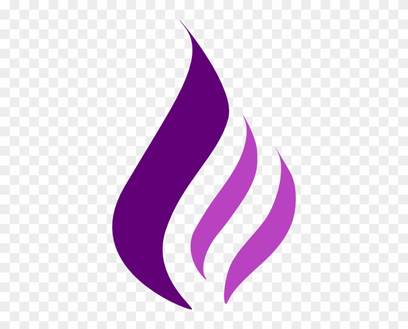 How To Set Use Purple Flame Logo Svg Vector - Purple Flame Clip Art #189690