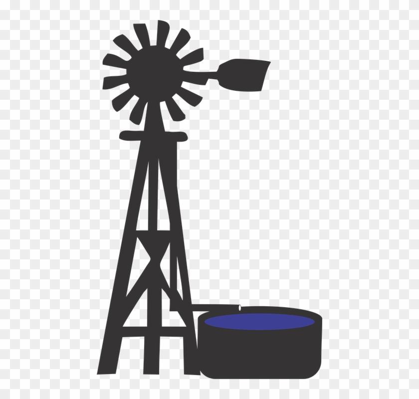 Windmills Silhouettes - Molino De Viento De Granja #1103338