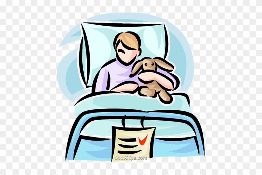 Child In A Hospital Bed Royalty Free Vector Clip Art   Hospital Bed Clipart  Transparent