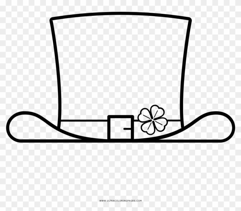 Top Hat Coloring Page - Sombreros De Copa Para Colorear #1104355
