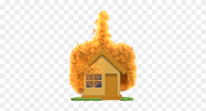 Image Result For Fire Safety Gif - House On Fire Animated Gif - Free