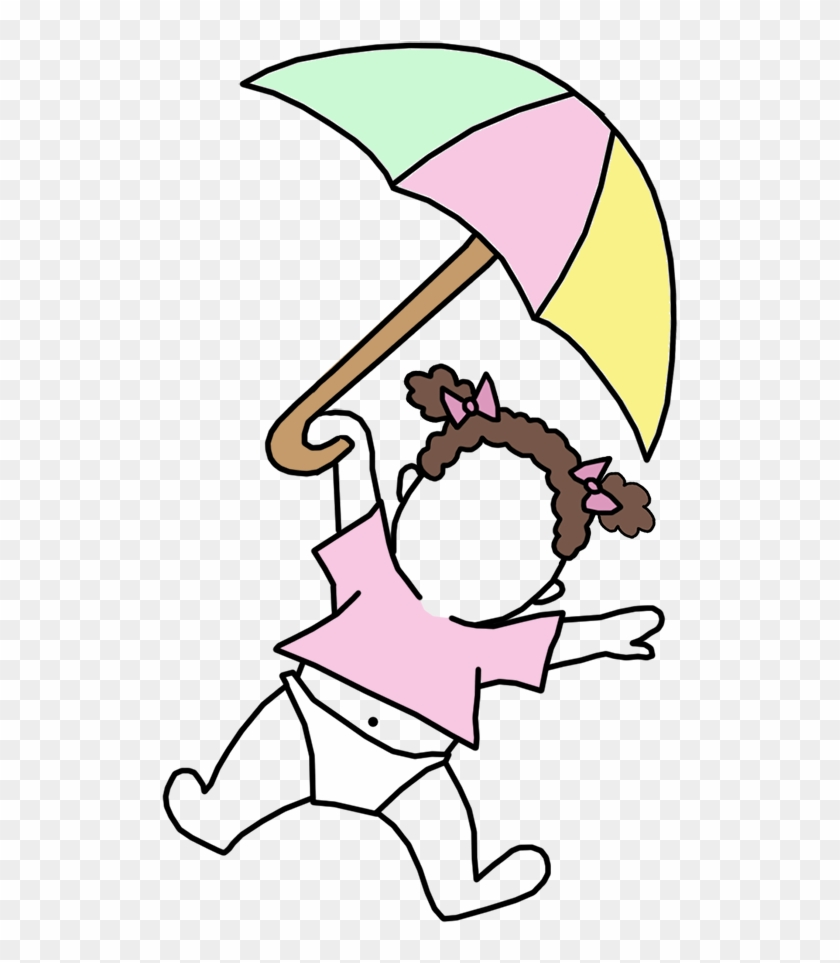Single Baby Girl With Umbrella Mandys Moon Personalized