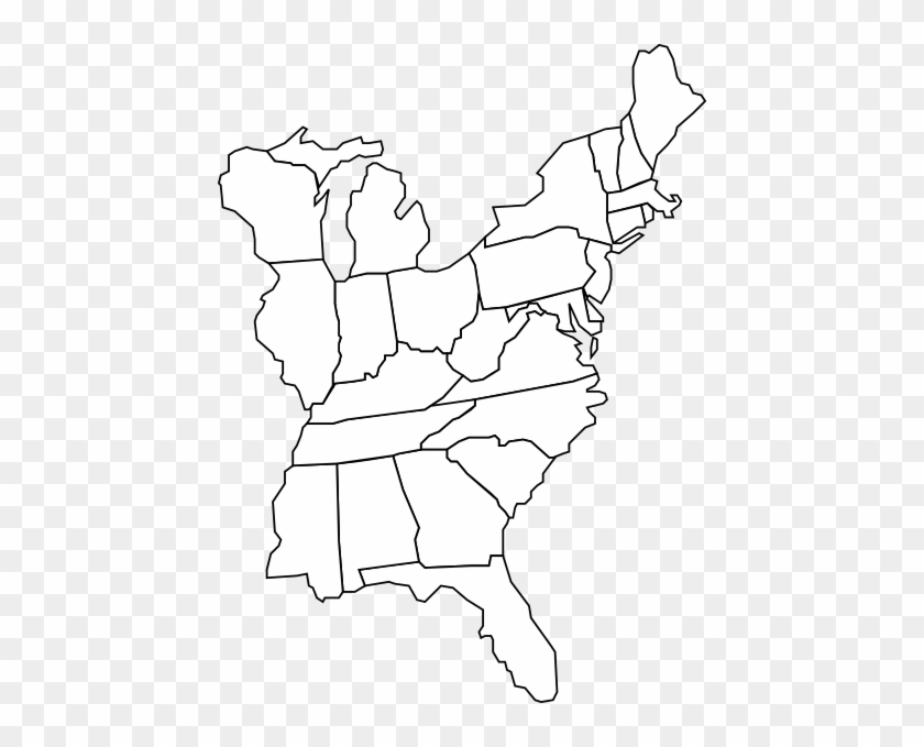 Eastern Us Map Clip Art At Clkercom Vector Clip Art - Map Of United ...